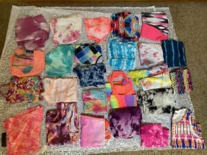 Huge Lot Womens Clothing Mix Tie Dye Bright  Sizes S-L 25 Pieces