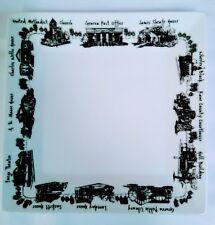 EXCLUSIVE! Geneva, IL Illinois Black and White Small Square Plate - Sue Sanders