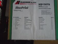 Engine Timing Cover Gasket Set Magnum Gaskets TC29023