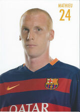 Postal postcard 24 MATHIEU  jug.  FC BARCELONA 15/16