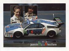 Foto BMW M1 HIS Team CASSANI PROCAR Serie 1980 WINKELHOCK Photo Fotografia Firme