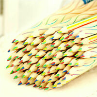 10pcs Rainbow Color Pencil 4 in 1 Colored Drawing Painting Set Pencils Y3A0