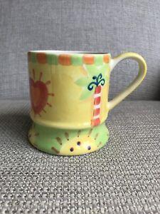 Whittard Yellow Handpainted Tankard Mug