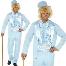 90s Stupid Tuxedo Costume, Blue, with Jacket, Trousers, Mock Shirt .. COST-M
