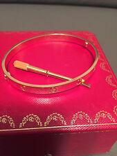 Cartier Love Bangle 18Kt Yellow Gold 6MM Size 21 Bracelet