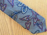 "Paisley & Glen Plaid Silk Necktie  Countess Mara  USA  W  3 3/4"""