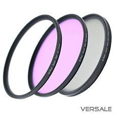 UV + CPL + FLD Filter 58mm Super Slim Kamera Objektiv Ø 58 mm dünner Rahmen