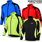 Cycling Jacket Windstopper Winter Thermal Fleece Windproof Long Sleeve Bike Coat