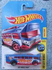 Hot Wheels 2017 #093/365 HOT WHEELS HIGH blue HW City Works Bus Long Card