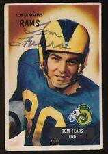 1955 Bowman Football #43 TOM FEARS (Los Angeles Rams) *AUTOGRAPHED* d.2000