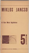 Guglielmino, Miklos Jancso, AIACE, Quaderno cinema, 1970. cinema ungherese