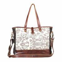 Myra Bag Panache Canvas Leather Travel Weekender Bag