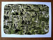 David de la Mano 'Jardin Secreto' HAND FINISHED Ltd Ed print + Banksy/Faile pin