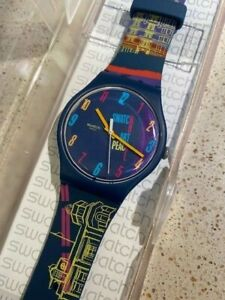 Swiss 41mm Swatch Peace of Art SUOZ160 New Gent Watch 2013