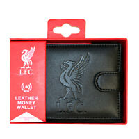 LIVERPOOL FC RFID TECHNOLOGY EMBOSSED LEATHER WALLET PURSE NEW XMAS GIFT