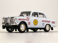 Moskvitch-412 Rally #51 Europe Tour Soviet Sports Car USSR 1961 Year 1/43 Scale