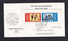 """Briefmarken BRD 1976 """"Olympische Spiele Montreal"""" Block 12  FDC"""