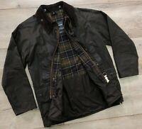 Men's BARBOUR A835 Classic BEDALE Brown Waxed Cotton Jacket Size C44/112cm M/L