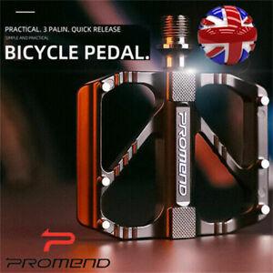 "Bike Pedals Mountain Road Bicycle Flat Platform MTB Cycling Aluminum Alloy 9/16"""