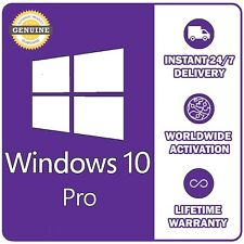 GENUINE WINDOWS 10 PRO 32 / 64BIT OEM ORIGINAL LICENSE KEY - SCRAP PC