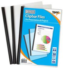 Paquete De 3 capacidad extra archivos de Barra de Clip A4 (Negro) diapositiva Binder Carpetas