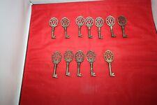 Alte Schrank Metall-Schlüssel 12 Stück