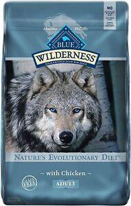 Blue Buffalo Wilderness Chicken Recipe Grain Free Dry Dog Food 24 LB