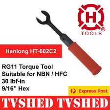 RG11 Torque Wrench Tool for HFC NBN Coaxial Cable F Type Connector Free Post AUS