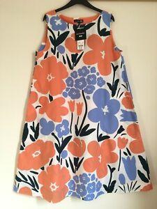 UNIQLO marimekko Talkoot Floral A-Line Sleeveless Dress L Large NWT