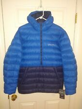 Eddie Bauer Men's CirrusLite Down Pullover Jacket NEW with tags - Blue