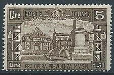 1930 REGNO MILIZIA 5 LIRE MNH ** - ED251-2