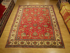 9 x11.6 Hand Knotted Persian Tabriz Antique1930s Wool Rug _Beautiful Warm Colors