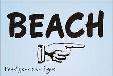 Joanie Stencil Beach Vintage Point Finger Lake Seaside Cottage Cabin Surf Sign