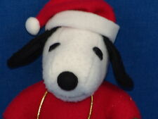 PEANUTS SANTA CLAUSE COSTUME CHRISTMAS SNOOPY DOG PLUSH STUFFED ANIMAL TOY