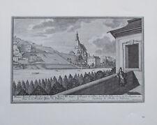 Salzburg Augustinerkirche - Ursulinenkirche - 29x24 cm Kunstblatt Reproduktion