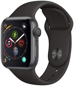 Apple Watch Series 4 44mm Space Grey Black Sport Bands GPS Model