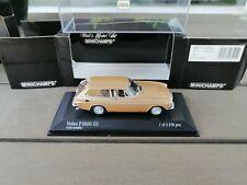 1/43 . VOLVO P1800 ES Break de 1971 MINICHAMPS Gold Metallic as new In Box