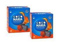 240 Cubes Coco Nara Coconut Shell Charcoal Hookah Incence CocoNara Carbon 2x120