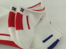 Women's TOMMY HILFIGER Red White Blue 72% COTTON Low Socks - 3 Pack - $29 MSRP