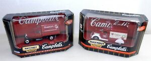 MATCHBOX ~ 1/43 Scale Die Cast ~ Pair of CAMPBELL'S DELIVERY TRUCKS ~ NIB ~ T181