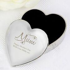 Personalised Mum Heart Trinket Box Keepsake Engraved Birthday Mother's Day Gift