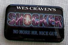 Orignal 1989 SHOCKER pin Wes Craven Peter Berg Heather Langenkamp Ted Raimi