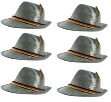 Green Trachten Hat German Alpine Oktoberfest Bavarian Fedora Grey Cap Brewer Lad