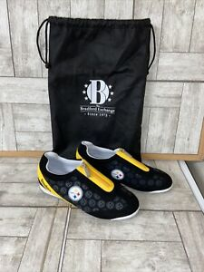 The Bradford Exchange NFL Women's Shoes, PITTSBURGH STEELERS  size 8 Black-NWOT