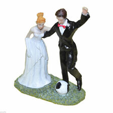 FOOTBALL CRAZY WEDDING CAKE TOPPER