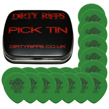 24 x Dunlop Tortex Teardrop Guitar Picks - 0.88mm Green In A Pick Tin