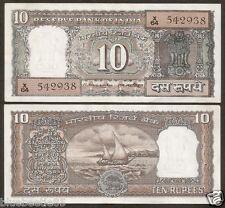 ★★★ 10 Rupees M. Narasimham 'B' Inset ~ UNC ~ D19 ~ Rare ★★★ bb85