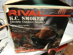 RIVAL K.C. Smoker electric outdoors BBQ, TURKEY Smoker 5820 New Open Box USA