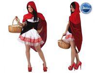Déguisement Femme Petit Chaperon Rouge XS/S 36/38 Costume Adulte Dessin Animé