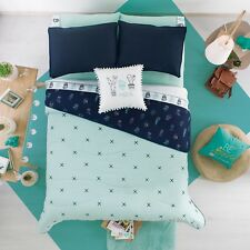 CACTUS TEENS GIRLS CUTE COLLECTION REVERSIBLE COMFORTER SET 4 PCS QUEEN